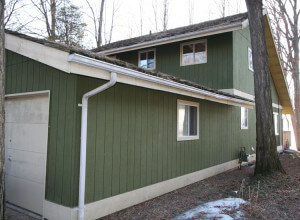 Exterior remodel garage before
