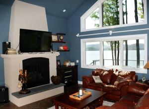 Craftsman home renovation fireplace