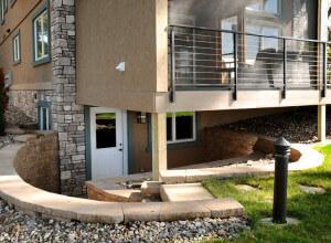 Home remodeling exterior basement after