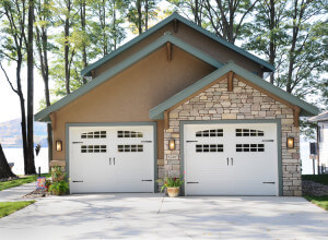 Home remodeling exterior garage after