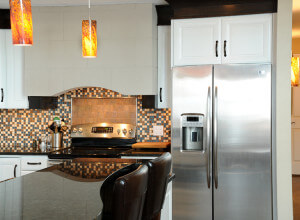 Home remodeling interior kitchen backsplash after