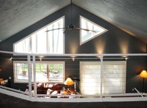 Home remodeling interior loft after