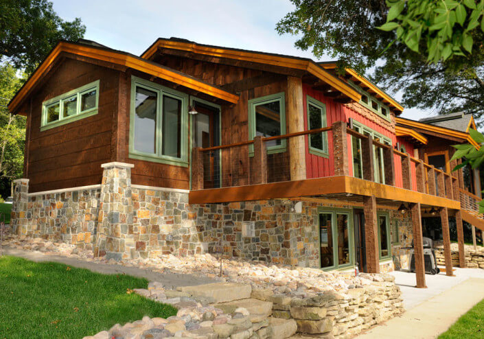 Wisconsin home renovation cabin exterior