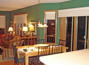 Dining room table and remodel before in WI
