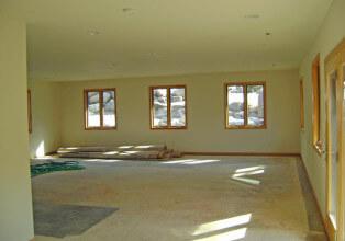 Interior basement remodel windows before