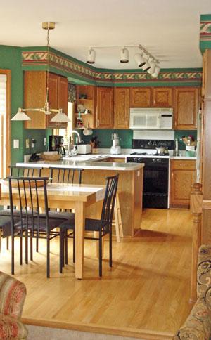 Interior kitchen remodel in Wisconsin before