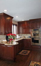 Kitchen remodel interior wood and countertops