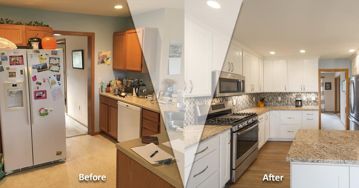 Bright White Kitchen Transformation Kitchen Design Madison Wi
