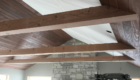 wood T&G ceiling installation