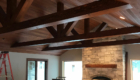 beams stained in the addition