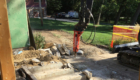 excavation of ground