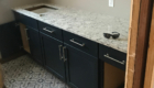 laundry room cabinet and counter installed