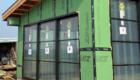 black pella patio door