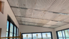 tin ribbed ceiling detail