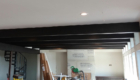 dark stained beams