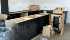 black cabinetry